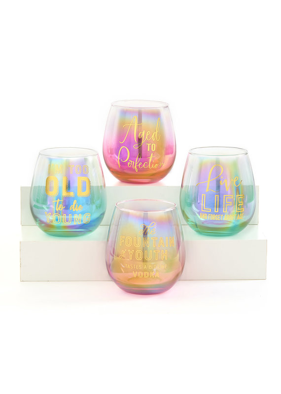 Gift Craft ****Age to Perfection Stemless Wine Glass