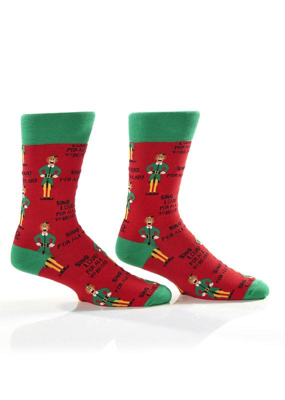 YOSOX ****Elf Sings Loud for All to Hear Christmas Socks