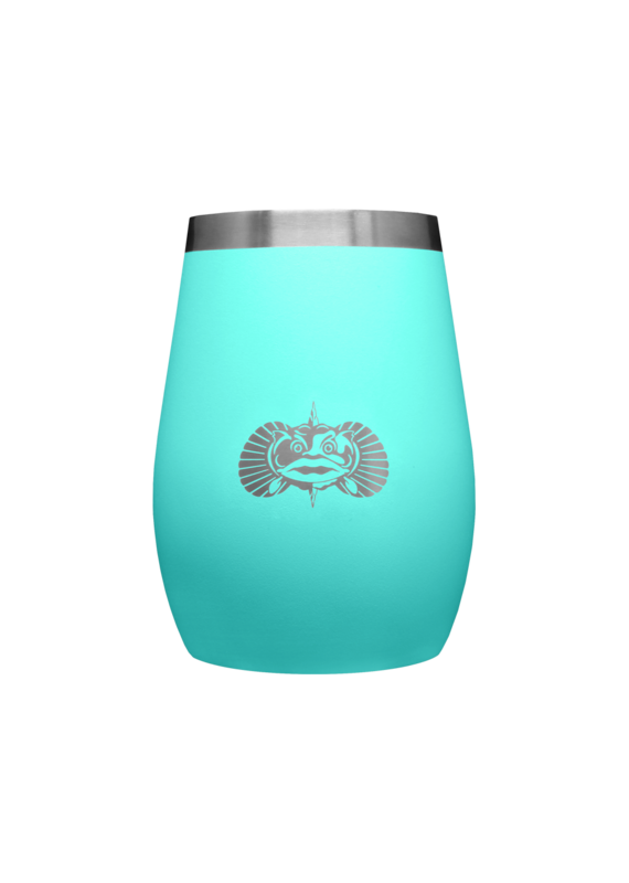 ToadFish *****Toadfish Non-Tipping  Stemless Wine Glass Teal