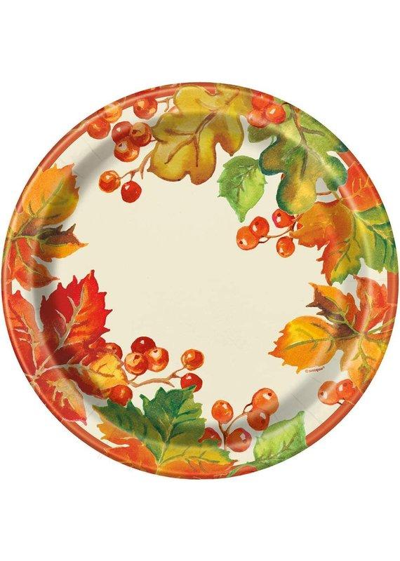 "*****Berries & Leaves Fall 9"" Dinner Plates 8ct"