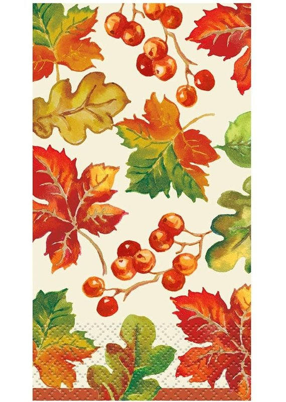*****Berries & Leaves Fall Guest Napkins 16ct
