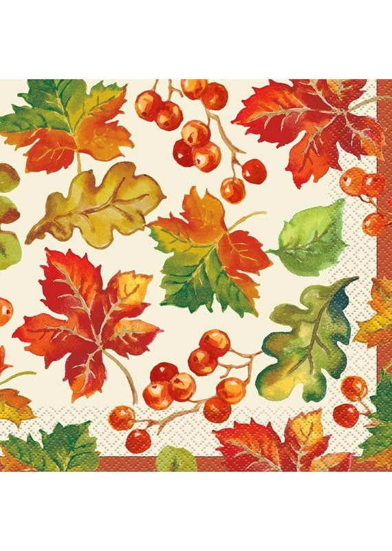 *****Berries & Leaves Lunch Napkins 16ct