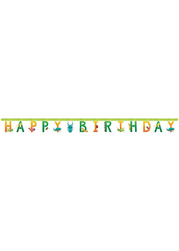 *****Birthday Bugs Jointed Banner 10ft