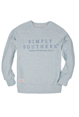 ****Simply Southern Terry Crew Blue