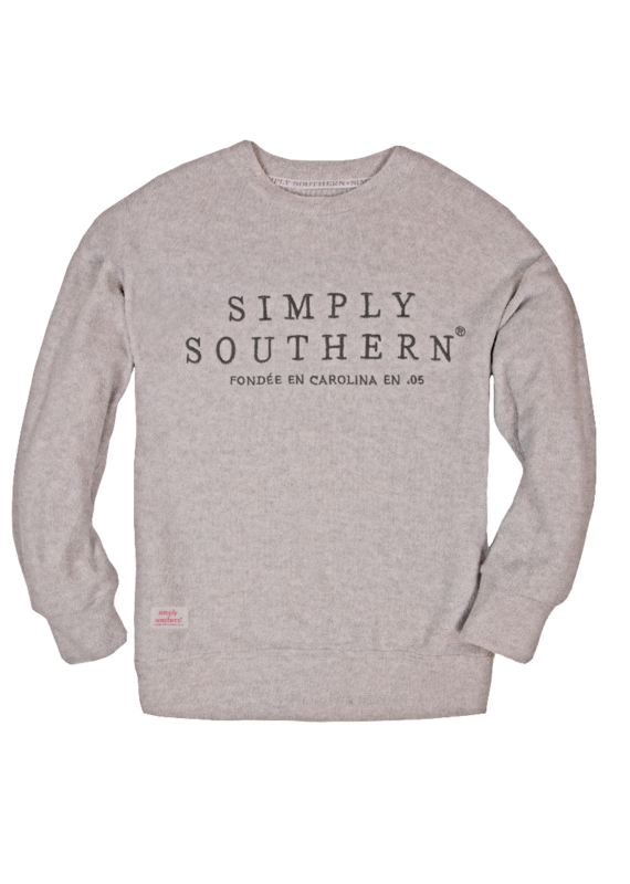 *****Simply Southern Terry Crew Gray