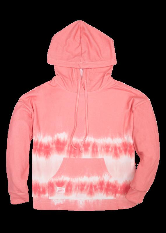 *****Simply Southern Tie Dye Hoodie Stripe Pink
