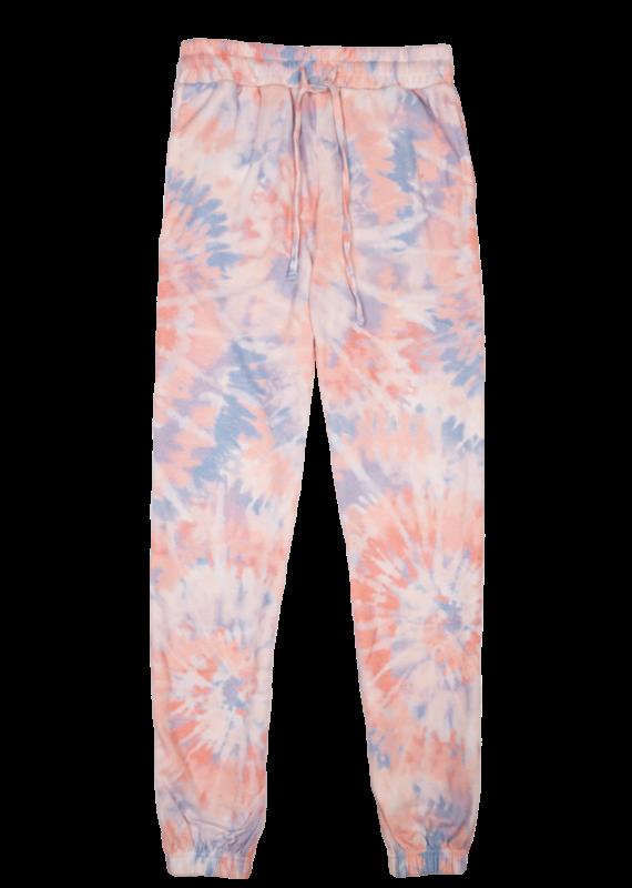 *****Simply Southern Tie Dye Jogger Pants Swirl Peach