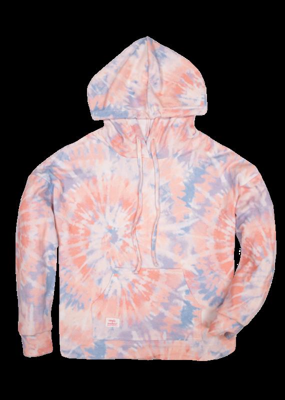 *****Simply Southern Tie Dye Hoodie Swirl Pink