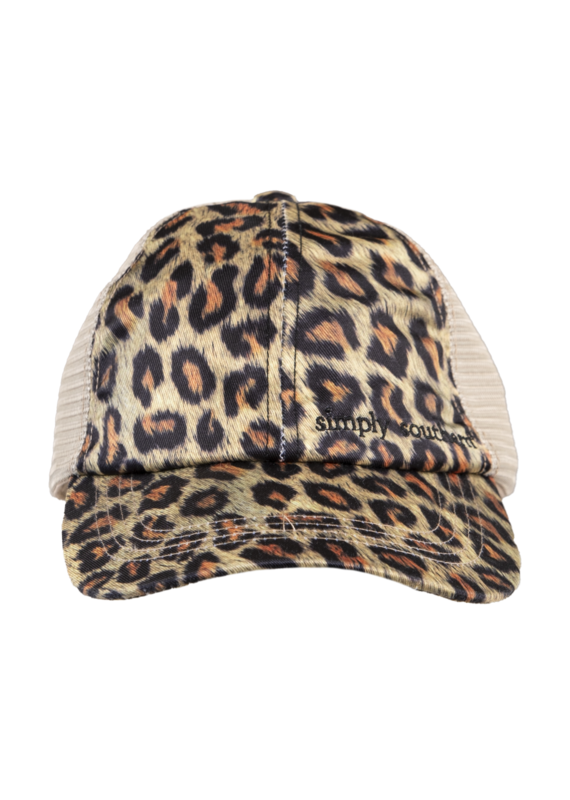 *****Simply Southern Ponytail Leopard Print Hat