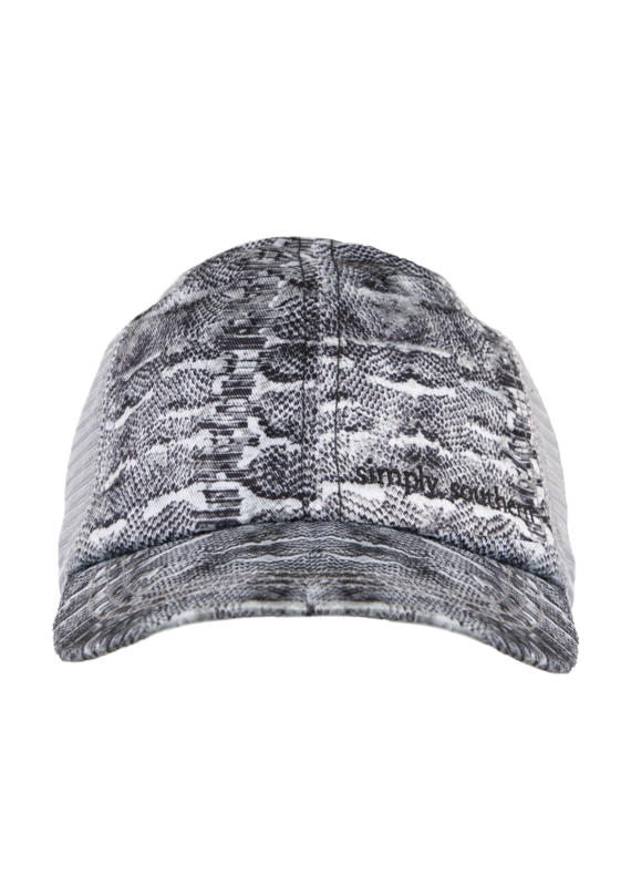*****Simply Southern Ponytail Snake Print Hat