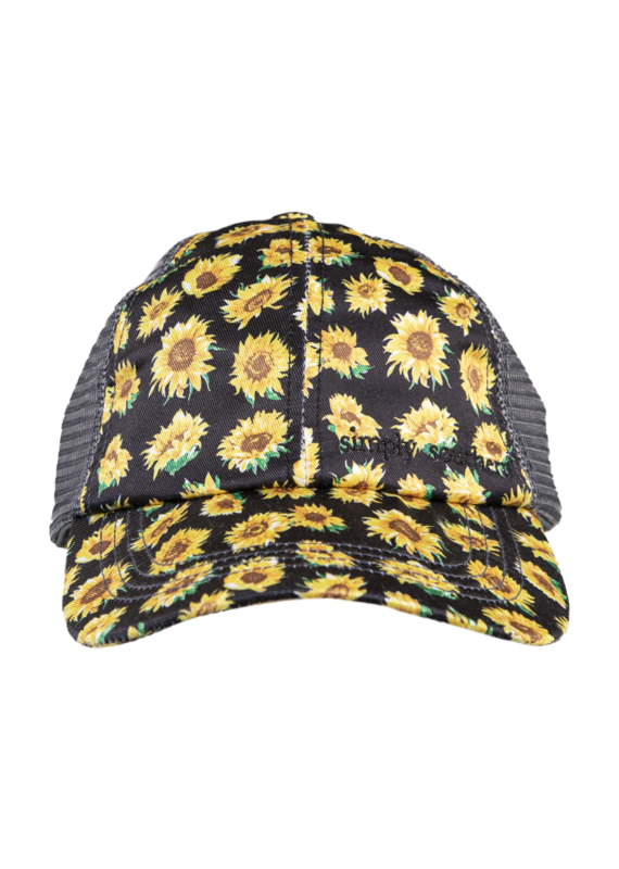 *****Simply Southern Ponytail Sunflower Print Hat