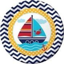 "***Ahoy Matey 9"" Dinner Plate 8ct"