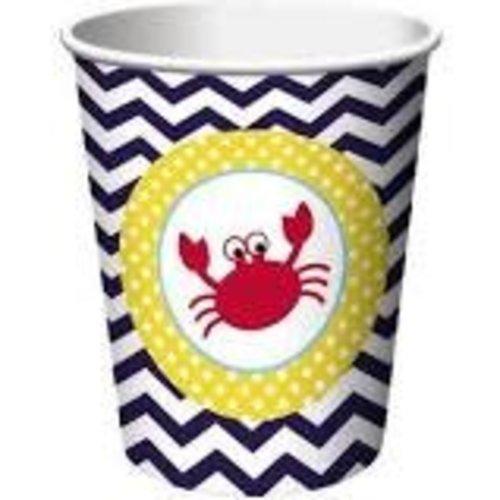 *Ahoy Matey 9oz Cups 8ct