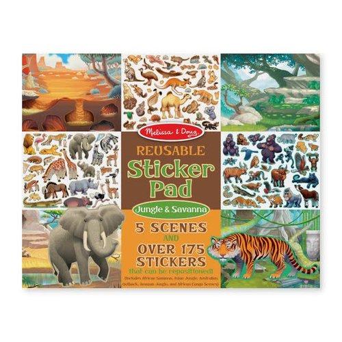 Reusable Sticker Pad Jungle & Savanna