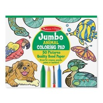 Jumbo Coloring Pad Animal