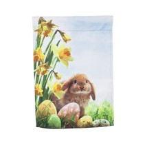 ***Easter Chicks and Bunny Garden Suede Flag