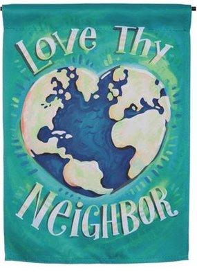 ***Love Thy Neighbor Garden Suede Flag