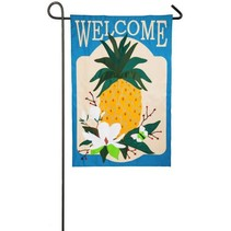 ***Summer Pineapple Garden Appique Flag