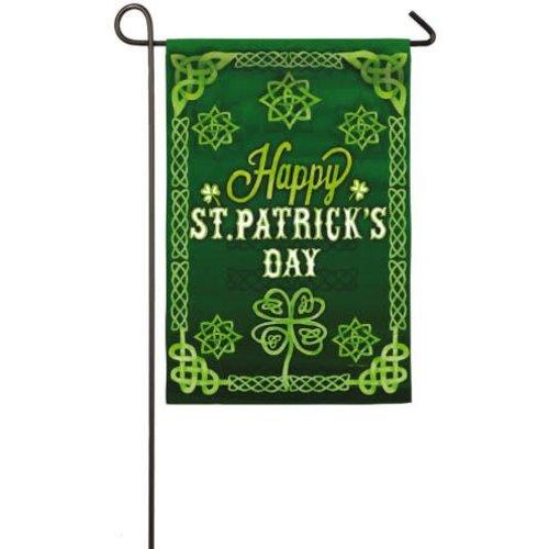 St. Patrick's Celtic Garden Suede Flag