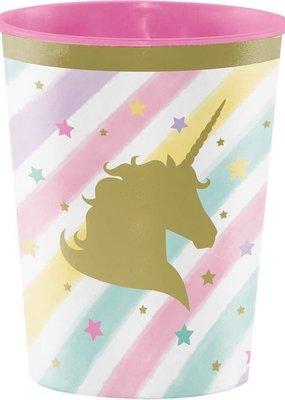 ***Unicorn Sparkle 16oz Plastic Cup