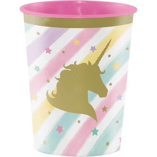 *Unicorn Sparkle 16oz Plastic Cup