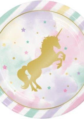 """***Unicorn Sparkle 9"""" Plates 8ct"""