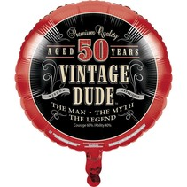 ***Vintage Dude 50 Birthday Mylar Balloon