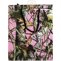 ***Pink Mossy Oak Gift Bag w/tissue