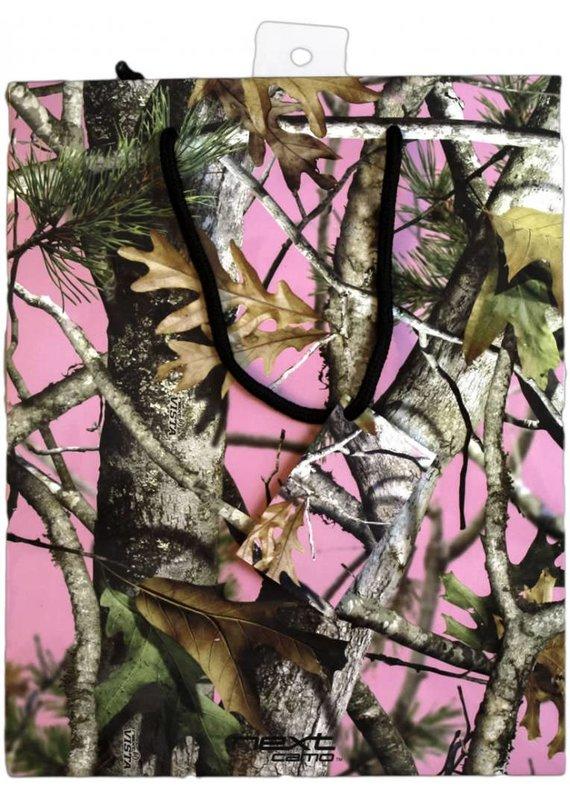 ****Pink Mossy Oak Gift Bag w/tissue