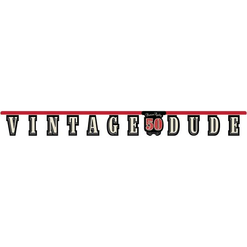 *Vintage Dude 50 Birthday Jointed Banner