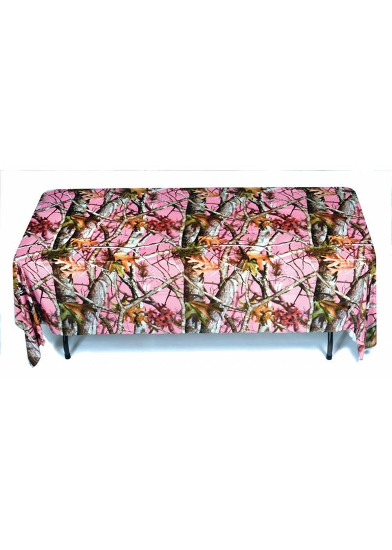 ****Pink Mossy Oak Plastic Tablecover
