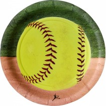 "***Softball 7"" Dessert Plate 8ct"