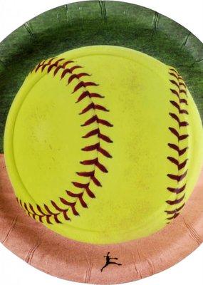 "***Softball 7"" Dessert Plate 8ct"