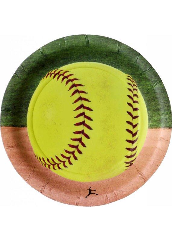"****Softball 7"" Dessert Plate 8ct"