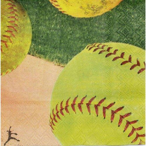 *Softball Beverage Napkins