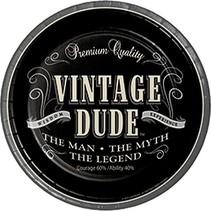 "***Vintage Dude Dinner 9"" plates"