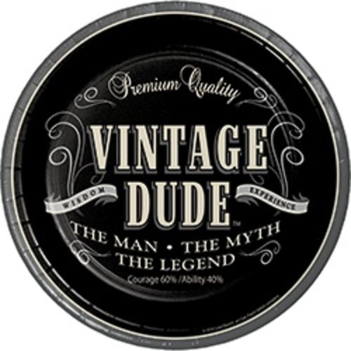 "*Vintage Dude Dinner 9"" plates"