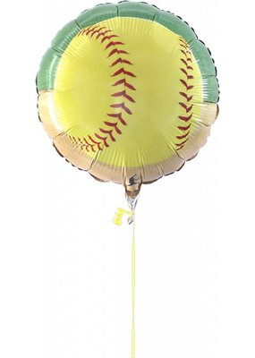 "***Softball 18"" Mylar Balloon"