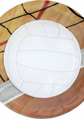 """***Volleyball 9"""" Dinner Plates 8ct"""