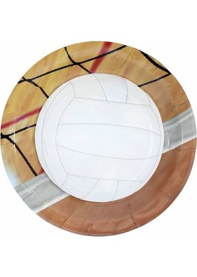 "***Volleyball 9"" Dinner Plates 8ct"