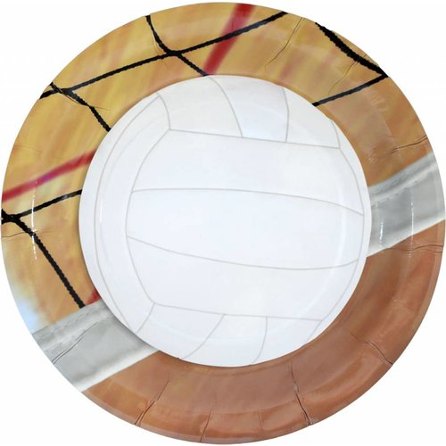 "*Volleyball 9"" Dinner Plates 8ct"