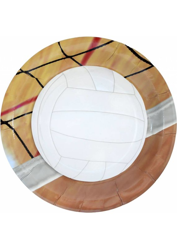 "****Volleyball 9"" Dinner Plates 8ct"