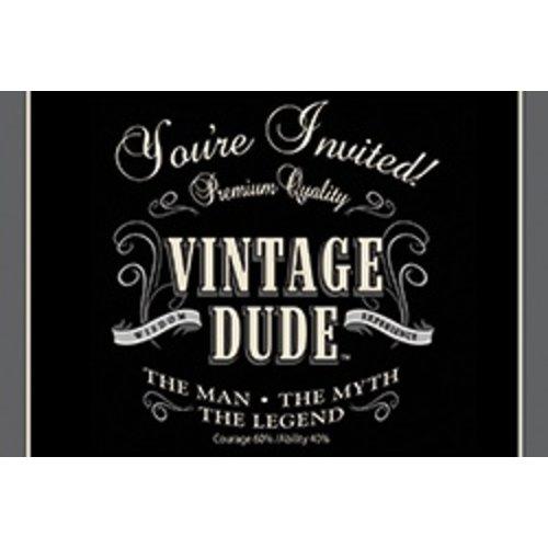 *Vintage Dude Invitations