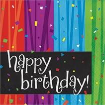 ***Milestone Birthday Lunch Napkins 16ct