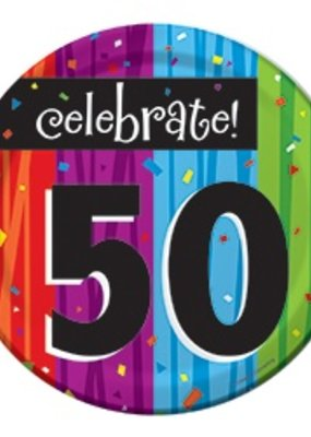 "***Milestone 50 Dessert 7"" Plate"