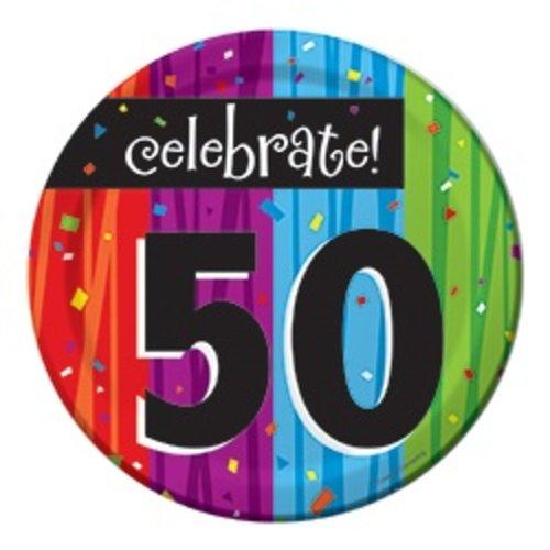 "*Milestone 50 Dessert 7"" Plate"