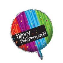 "***Happy Retirement Milestone 18"" Mylar Balloon"