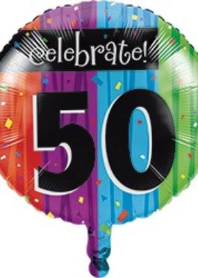 ***Milestone 50 Mylar Balloon