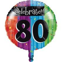 ***Milestone 80 Mylar Balloon