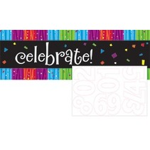 ***Milestone Giant Banner with Number Stickers